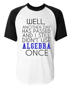 well another day has passed raglan tshirt
