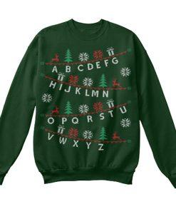 alphabet christmas sweatshirt