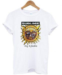 sublime sun logo t-shirt