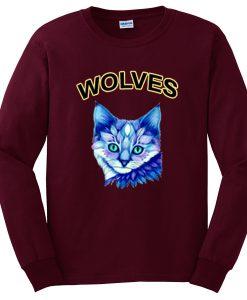wolves cat sweatshirt