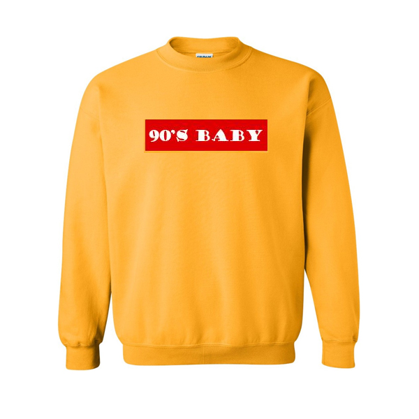 5eb6c20ba7c8 90s Baby Font Sweatshirt