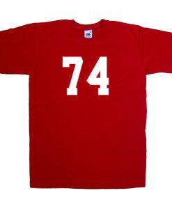74 font tshirt
