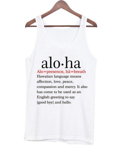 Aloha Definition Unisex Tank Top
