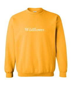 wildflower yellow sweatshirt