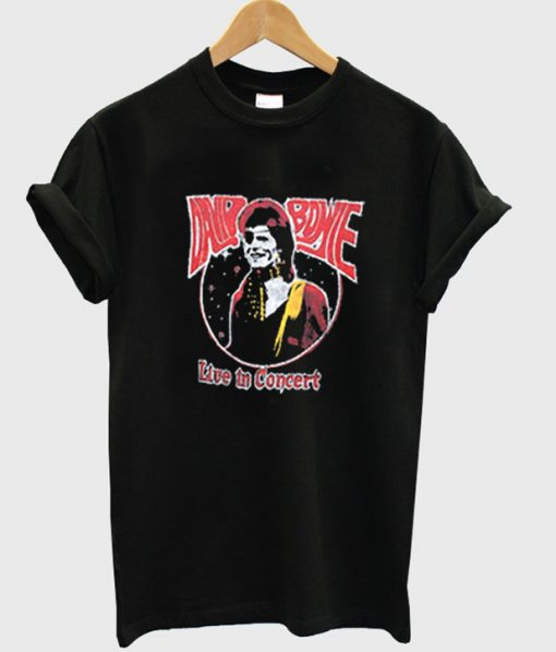 david bowie live in concert t-shirt