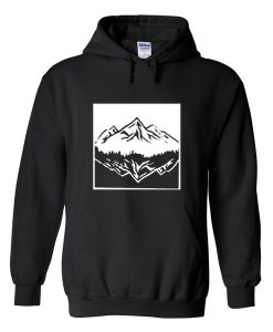 mountain upside down hoodie