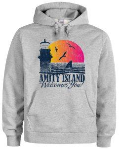 amity island welcomes you hoodie
