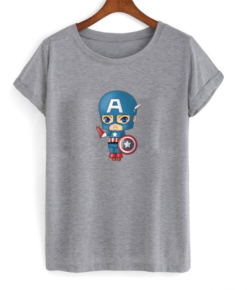chibi captain america t-shirt