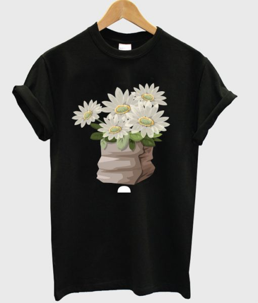 furniture small table deco flower t-shirt