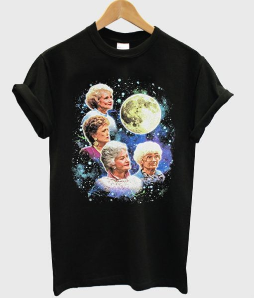 golden girls moon t-shirt