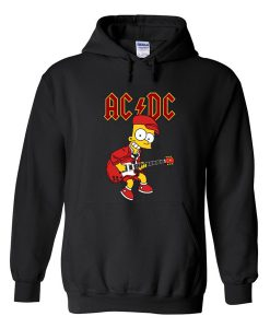 ACDC simpson playing guitar hoodie