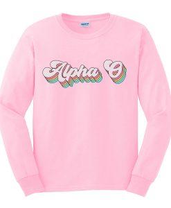 alpha sweatshirt