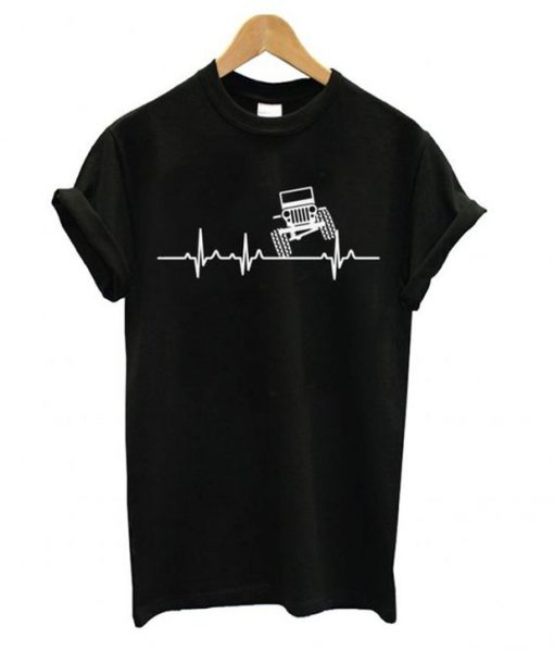 jeep heartbeat t-shirt
